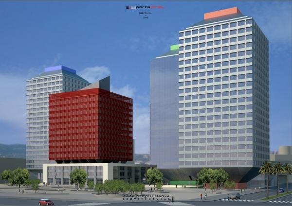 Iberdrola inmobiliaria levanta la primera torre del for Oficina de iberdrola en barcelona