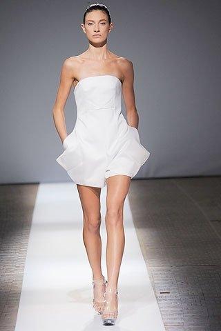 Vestidos blanco coctel 2011