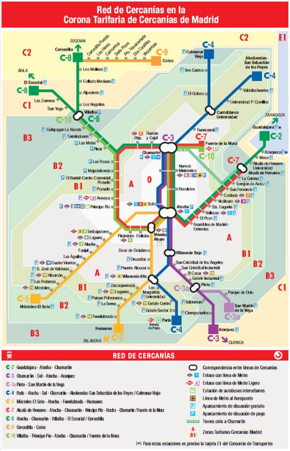 horario tren cercania madrid: