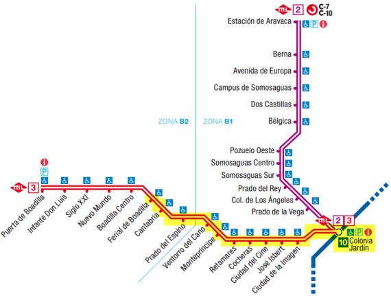 Metro ligero oeste plano for Metro ligero colonia jardin