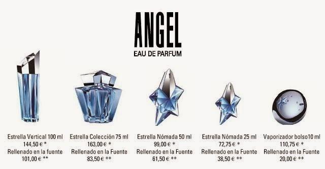 precio del perfume angel