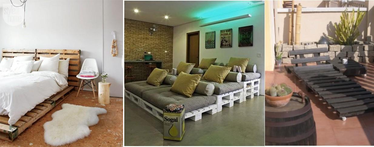 Crear muebles con palets reciclados arte y mobiliario - Palets muebles reciclados ...
