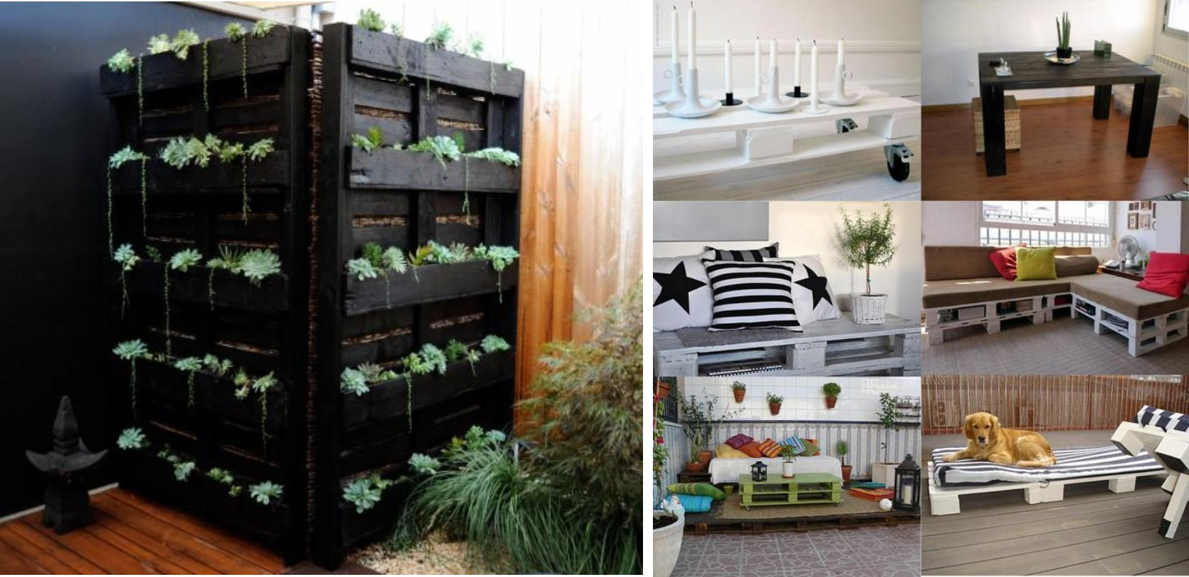 Crear muebles con palets reciclados for Muebles jardin madera palet