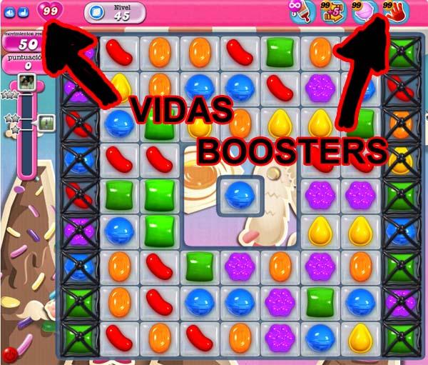 99 vidas y boosters infinitos en Candy Crush Sagapara Firefox