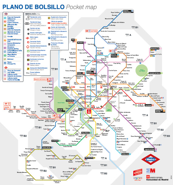 Mapa Metro Madrid Zonas.Mapa Metro Madrid Zonas