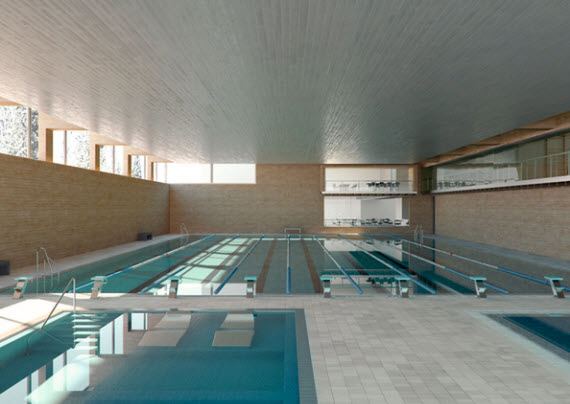 El nuevo polideportivo de vallehermoso estar listo para for Piscina vallehermoso