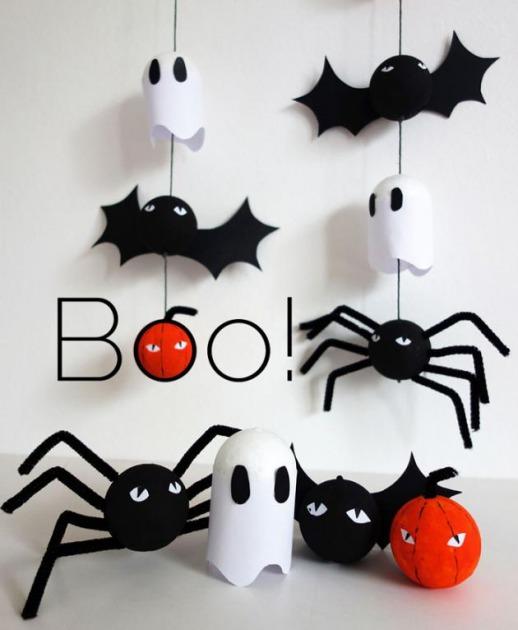 Lujoso Sencillas Halloween Bandera Ideas para el hogar telchacinfo