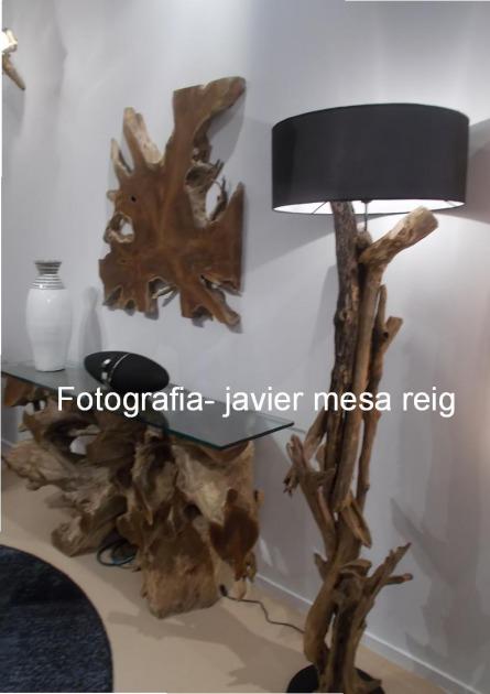 Mueble colonial con troncos naturales exoticos en feria for Muebles con troncos