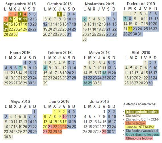 Calendario escolar curso 2015 2016 de la comunidad de madrid for Donde esta la comunidad de madrid